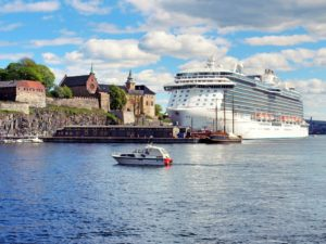 Cruise ship in the Oslofjord