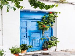 Athens-Shore Trips: A typical Hellenic motif in blue and white