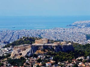 Athens-Shore Excursions: View from Likavittós to Athens and the Aegean Sea