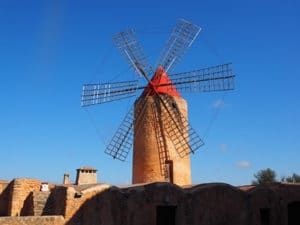 Majorca-Shore Excursions: One of the countless typical windmills in Mallorca