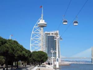Western Europe-Shore Trips: The cityscape of Lisbon was strongly modernised during the Expo 1998.