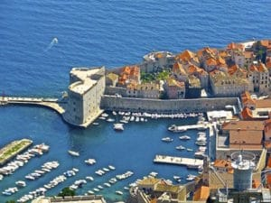 Dubrovnik-Shore Excursion: View from the local mountain to the Old Town of Dubrovnik