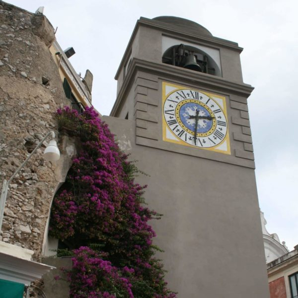 Bell tower on the main square of Capri