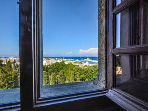 Shore excursions on Rhodes: Morning atmosphere with a view over Rhodes