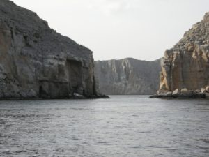"""Shore excursion in Khasab: Because of its numerous fjords, Khasab is also known as the """"Norway of Oman""""."""