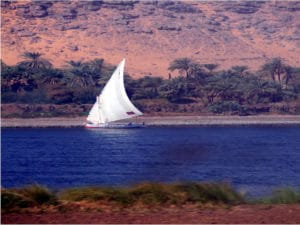 Oriental Cruises: A Traditional Dhow on a River in Oman