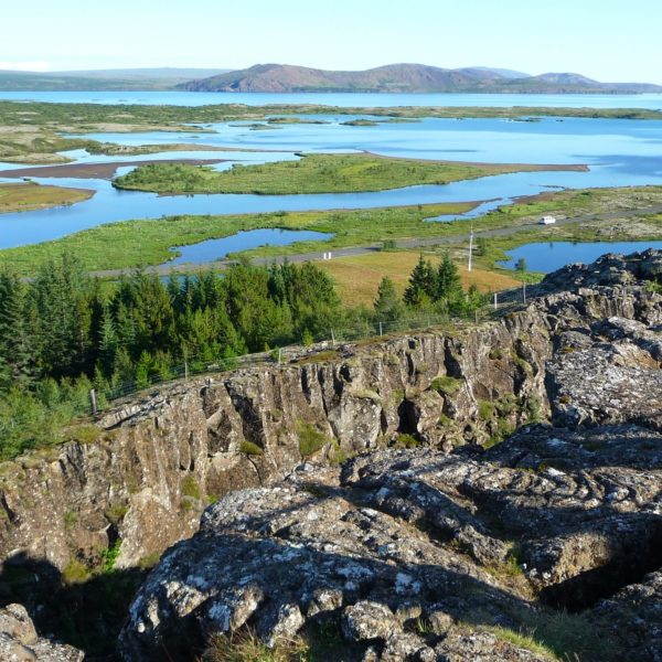 Beautiful view of National Park Þingvellir