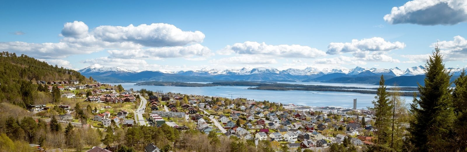 Aerial view of Molde