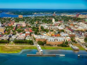 Aerial view of Charleston