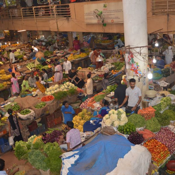 Fruits and vegetables on local market in Goa